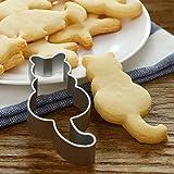 Emporte-pièce LQZ en forme de chat-En acier inoxydable-Pour biscuits, cookies et fondants