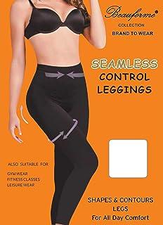 f05a8b0df756d Leggings Slimming Seamless Control Shapewear Tummy Legs Body Slimming Black  S M L XL 2XL 3XL 8 to