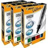BIC Velleda whiteboard-marker, droog afwasbaar, conische punt, groot, verschillende kleuren, 4 stuks - 3 stuks