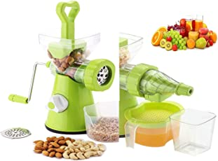 Olypex ABS 2 in 1 Manual Fruit Vegetable Juicer and Crusher (Green)