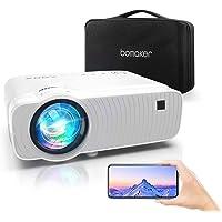 Vidéoprojecteur WiFi, ABOX Projecteur Portable 6000 Lumens avec Haut-parleur HIFI 1080P Supporté Retroprojecteur Home…