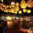 Qedertek LED Lantaarn voor Buiten, 8 Meter 30 LED Lampion 2 Modi IP65 Waterdichte Zonne-Energie voor Tuin, Bomen, Terras, Bru