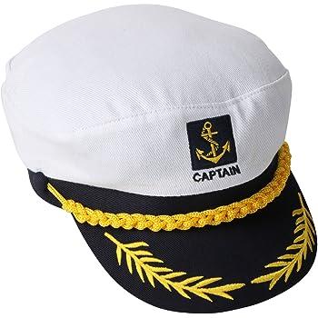Cappello da capitano di yacht nave comandante barca marinaio  Amazon ... 266ed020452e