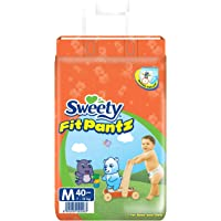 Sweety Fit Pantz Baby Diapers Pants, Medium (Pack of 40)