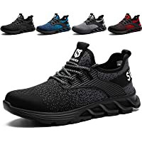 SUADEX Safety Shoes Men Women Steel Toe Cap Trainers Boots Lightweight