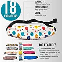 MV Essentials Car Seat Head Strap Band Support Kids Toddler Baby Child Carseat neck Pillow Rest (Alphabet head band)