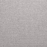 Furninero - 140 cm Breit, Geknöpfter Gepolsterter Sitzbank Sitzhocker Sitzruhe Betthocker Ottomane mit Stauraum gerundete Beine, Naturel Lilly Beige Stoff, Beige