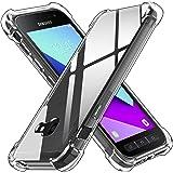ivoler Funda para Samsung Galaxy Xcover 4 / Xcover 4s, Carcasa Protectora Antigolpes Transparente con Cojín Esquina Parachoqu