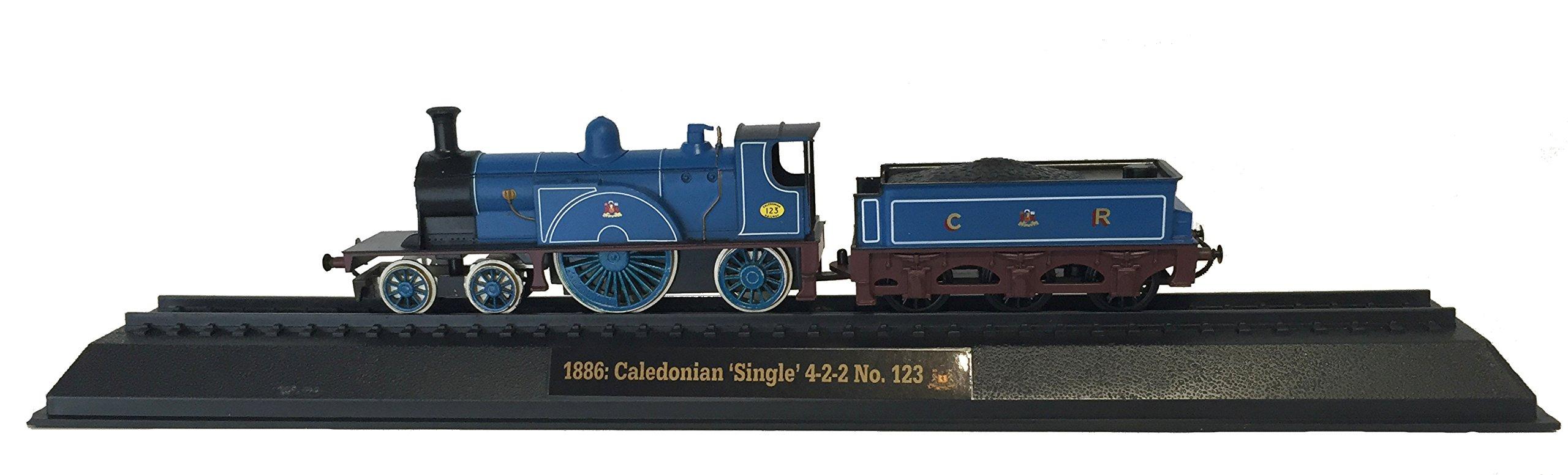 Caledonian 'Single' 4-2-2 No. 123 - 1886 Diecast 1:76 Scale Locomotive Model (Amercom OO-23)