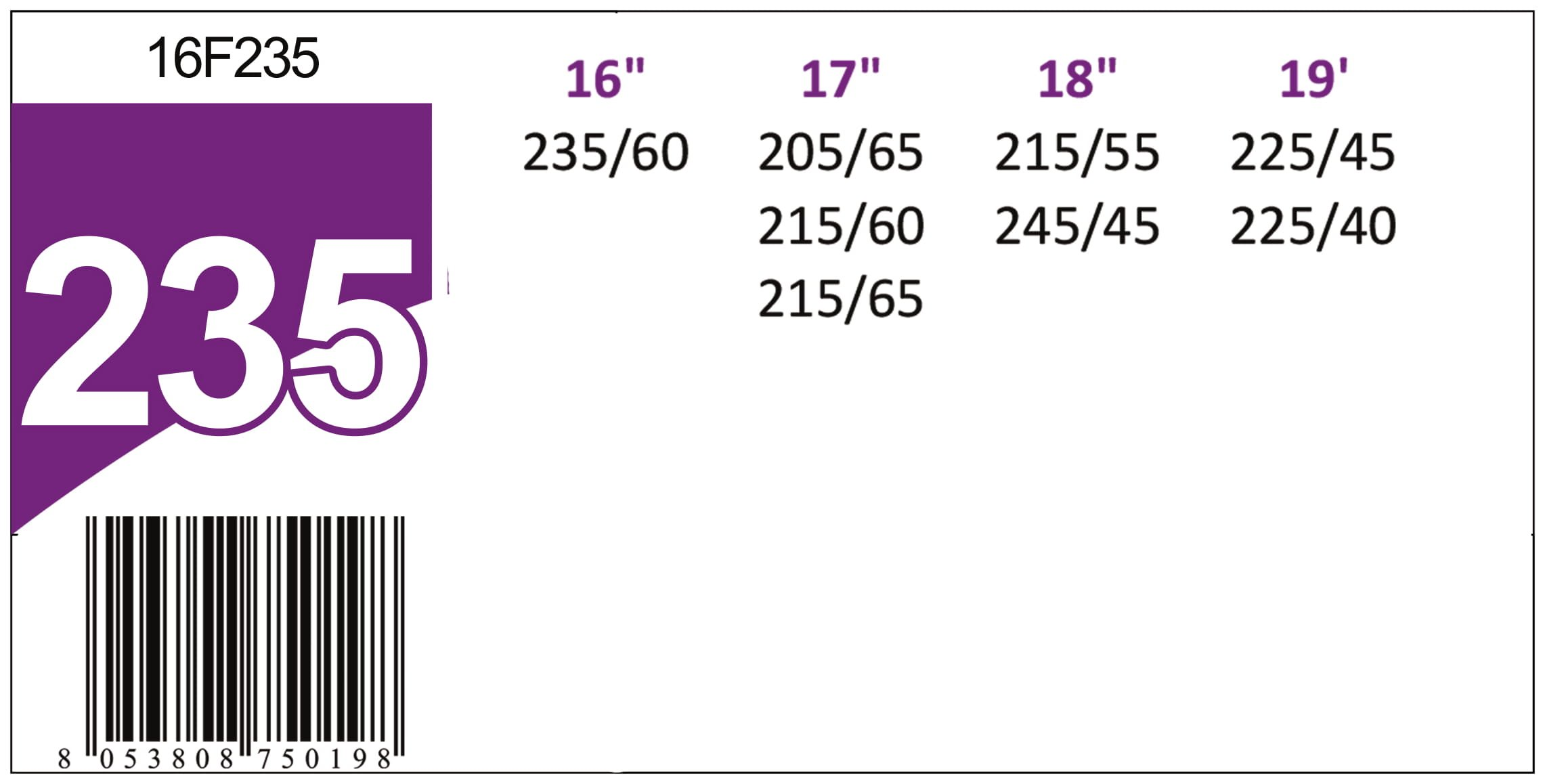 POWER GRIP Catene da Neve 16mm Gruppo 235, Omologate TUV e GS Onorm, 16F235