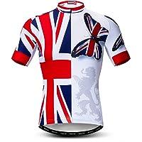 weimostar Men's Cycling Jerseys Tops Biking Shirts Short Sleeve Full Zipper Bike Clothing