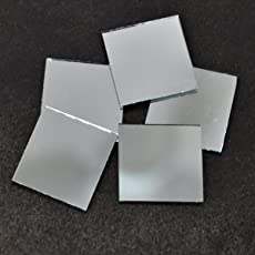 Embroiderymaterial Shisha Mirrors for Embroidery and Craft Purpose,Square Shape, 25*25MM, 75Pcs