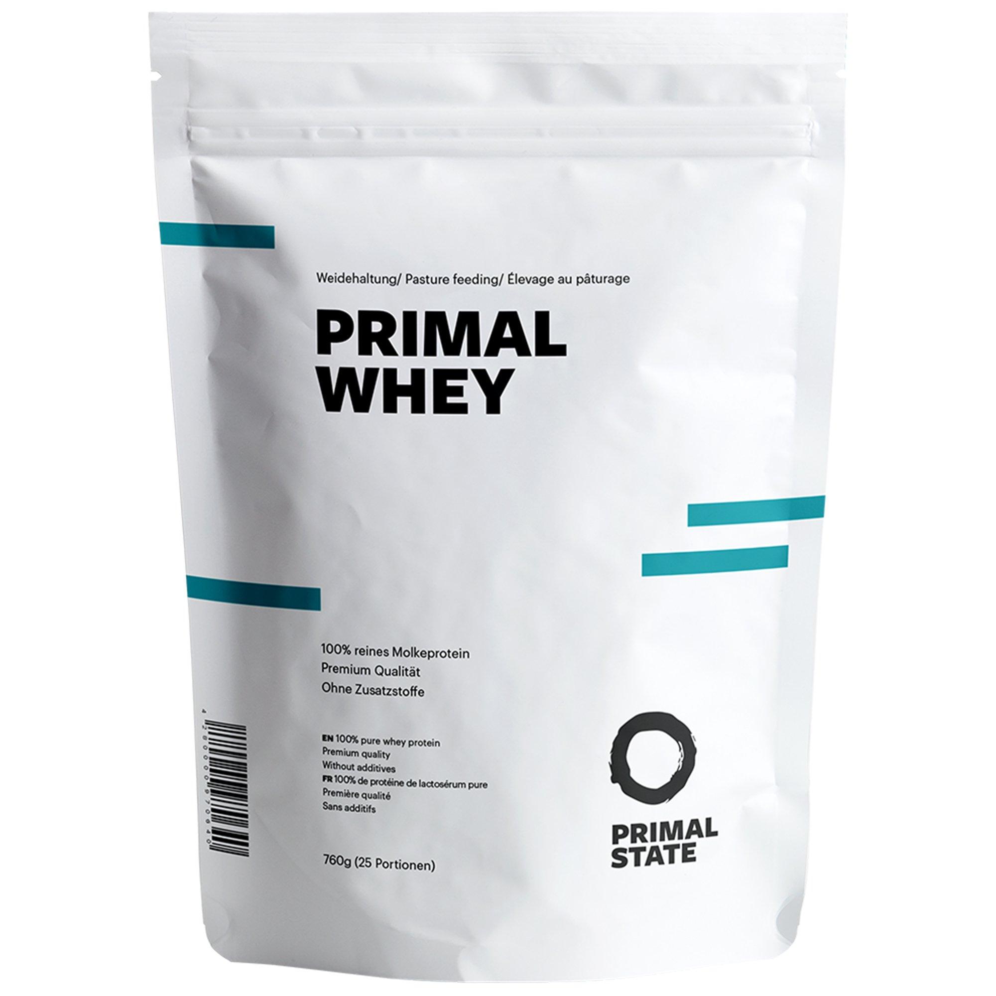 PRIMAL WHEY Proteinpulver | 100% reines Premium Molkeprotein aus irischer Weidehaltung | Low Carb Protein zur Erhaltung & Zunahme der Muskelmasse