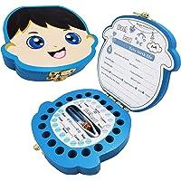 Boîte à Dents de Lait pour Bébé Dents,Boîte à dents pour enfants, boîte de rangement en bois, Boîte à Souvenirs,Cadeau…