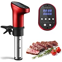 YISSVIC Sous Vide Stick 1200W Sous -Vide Garer 5-95°C Digital Timer LED Touch Anzeige für gesunde Ernährung, Rot…
