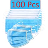 Bildos Non Woven Fabric Masks with Nose pin 3 Layer Pollution Face Dust Surgical Disposable Mask (100) - Blue