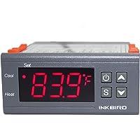 Inkbird ITC-1000 Controleur de Température à 2 Relais 220 V avec Capteur,Thermostat Chauffage et Refroidissement,pour…