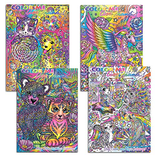 Color Me Lisa Frank Adult Coloring Book SET OF 4 2016 Just released Rare hard to Find by Lisa Frank adult coloring books