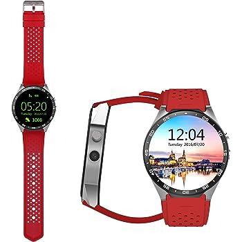 Awów kw883G teléfonos inteligentes para ver en una de cuatro núcleos Android5.1 MTK6580 WIFI GPS monitor de ritmo cardíaco
