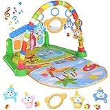 Tappetino da Gioco per Bambini, Attività Musicale Palestra Calcia e Suona il Pianoforte, Tappetino Neonato Giocattoli con Mus