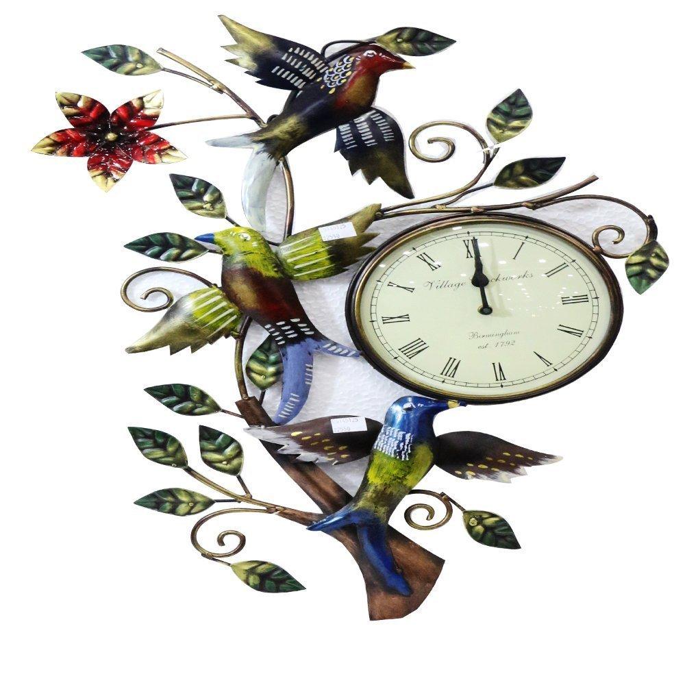 Bird Figure Iron Metal Clock