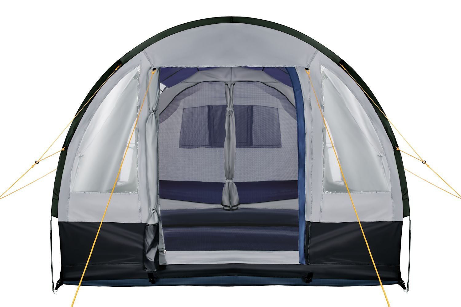 CampFeuer - Tunnel Tent, spacious Camping Tent, 510x360x210 cm, blue/grey - Version 2 3