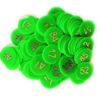 HENCO Plastic Coin/Token (Green, 1 to 100)