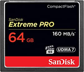 SanDisk Extreme PRO 64GB Compact Flash Memory Card (SDCFXPS-064G-X46)