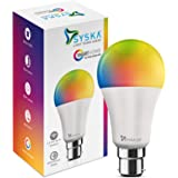 Syska 12-Watt B-22 Wi-Fi Enabled Smart LED Bulb (16 Million Colors with Warm White/Neutral White/ Natural White) (Compatible with Alexa & Google Assistant) (SSK-SMW-12W-5C)