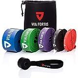 Via Fortis Premium fitnessbanden met tas en handleiding met oefeningen, weerstandsbanden voor crossfit, calisthenics of freel