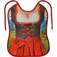 Tini - Shirts Grosses Lätzchen für Erwachsene - Bayrisches Dirndl Motiv-Latz : Trachtenfrau rot - cooler Sprüche/Motiv…