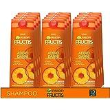Garnier Multi Pack Fructis Shampoo Addio Danni per Capelli Fragili o Danneggiati da Rivitalizzare, 250 ml, Confezione da 12
