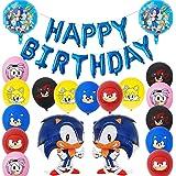 BESTZYY Sonic Foil Globos, Sonic The Hedgehog Party Supplies Juego de Decoración Sonic Erizo Frustrar Globo Bandera Set para