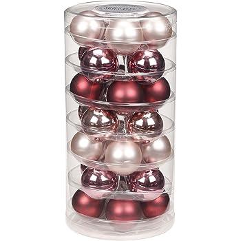 28 Christbaumkugeln Glas 45mm Weihnachtskugeln Baumkugeln