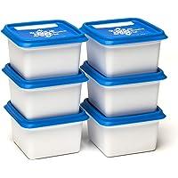 ALASKA, set de 6 Boites à congélation -30°c et conservation d'aliments et repas. Rangement pratique pour la cuisine avec…