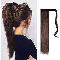 FESHFEN Posticci per capelli Extension Coda Di Cavallo Capelli Lunga Estensione Capelli sintetica a coda di cavallo…