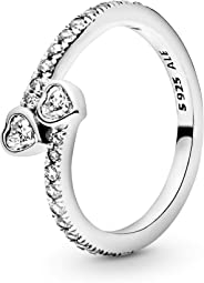 Pandora Women Silver Piercing Ring - 191023CZ-56 (7.5 US)