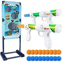 DX DA XIN Cibles de Tir Mobiles Jeu Cible Electrique, Jouet pour Enfants avec 2 Pistolets à Air Comprimé 18 Balles en…