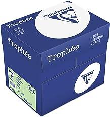 Clairefontaine 1975C Trophee buntes Druckerpapier (5 x 500 Blatt, DIN A4, 21 x 29,7 cm, 80 g, für besonders farbenfrohe Ausdrucke, 5er Pack) hellgrün
