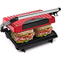 Aigostar Warme 30HHH - Grill multifonction, plancha, presse à paninis, appareil à sandwichs.