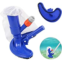 Swimming Pool Vacuum Cleaner, Portable Jet Pool Vacuum Underwater Cleaner with Scrub Brushes, Leaf Bag for Above Ground Pools, Spas, Ponds and Hot Tub