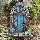 Miniatura Pixie, elfo, puerta de hada–árbol de jardín decoración del hogar–diversión peculiar regalo figura decorativa–H9cm
