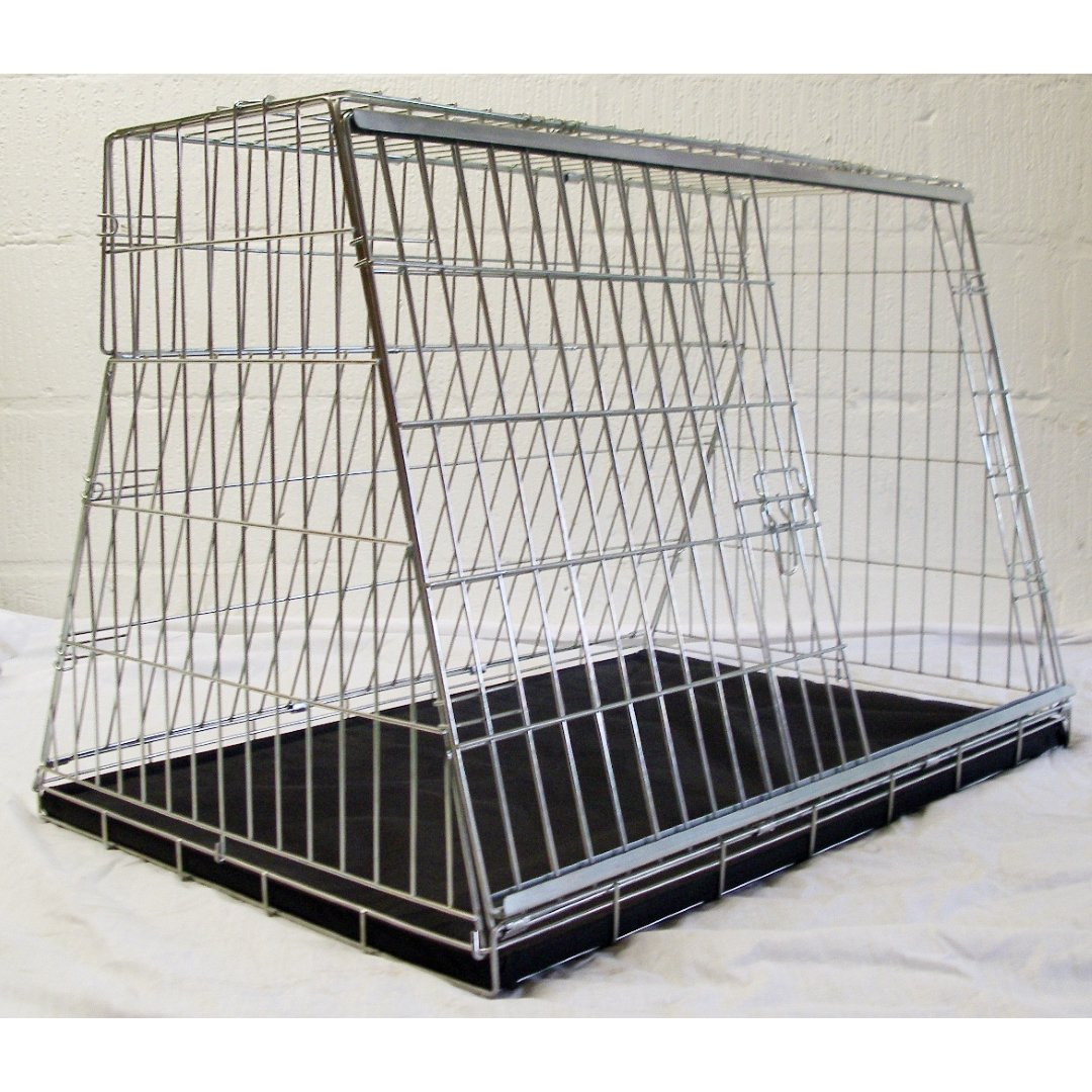 Arrow 34″ SLOPING DOG CAR CAGE BOOT TRAVEL CRATE PUPPY GUARD HATCHBACK & ESTATE CAGE