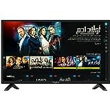 تلفاز ذكي غلوريا من امبكس HD بشاشة 40 بوصة وبتقنية LED وWIFI وهوت سبوت ومزود بمنفذ HDMI وUSB وRJ 45 وتطبيق اي شار وكروم كاست