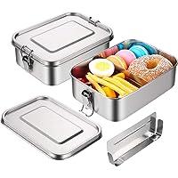 JIM'S STORE Boîte Bento INOX Lunch Box INOX Anti Fuite avec Compartiment Amovible 1200ML Boîte Lunch Box à Déjeuner…