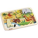 Janod J07022 - Chunky Holzfiguren-Puzzle 7 Teile, Zoo