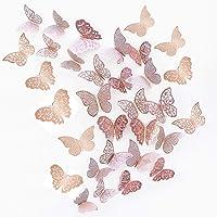 JUNI-H 36 Pièces 3D Papillons Décoratifs Papillon Autocollants Muraux DIY Art Stickers Chambre Bébé Décor Stickers…