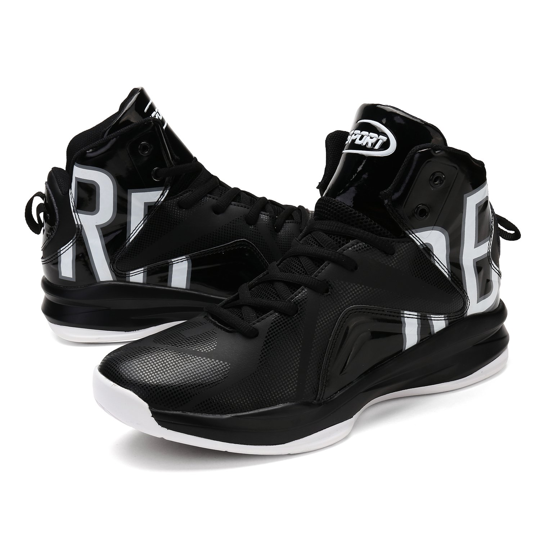 Elaphurus Scarpe da Basket Uomo Hi Top Sneaker 1 bianco