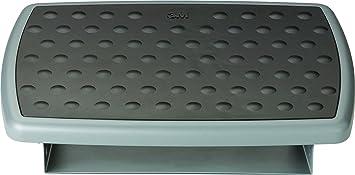 3m under desk ergonomic adjustable foot rest grey