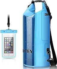 INTEY Wasserdichte Tasche 10L/20L Dry Bag mit Langer Verstellbaren Tragegurte Trockentasche, inkl. Wasserfeste Handyhülle, für Wassersport Wie Surfen, Paddeln, Rafting